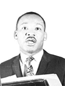 Image of Martin Luther King Jr. by John C. Goodwin, April 4, 1967, Courtesy of the Estate of John C. Goodwin.