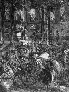 THE RIOTS OF NEW YORK—THE RIOTERS BURNING AND SACKING THE COLORED ORPHAN ASYLUM