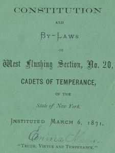 CADETS OF TEMPERANCE CONSTITUTION AND BY-LAWS