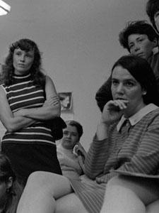 A NEW YORK RADICAL WOMEN MEETING TO PLAN THE 1968 MISS AMERICA BEAUTY PAGEANT PROTEST