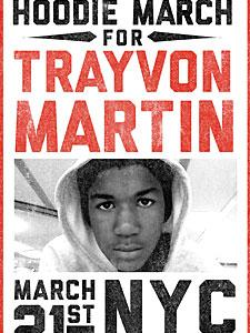 1,000,000 Hoodie March for Trayvon Martin Poster