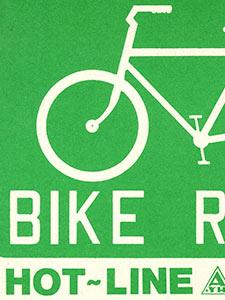 BIKE ROUTE SIGN FROM TRANSIT STRIKE