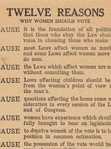FLYERS FOR AND AGAINST WOMAN SUFFRAGE
