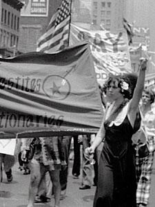 CHRISTOPHER STREET LIBERATION DAY, 1973, SYLVIA AND BEBE POWER SALUTE