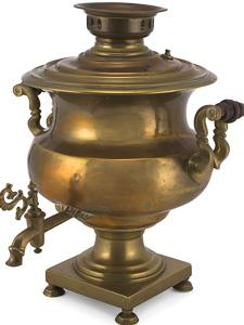 SAMOVAR SET USED FOR SERVING TEA TO IMMIGRANT VISITORS