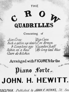 "SHEET MUSIC COVER, ""THE CROW QUADRILLES"""