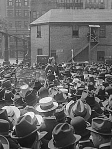 Emma Goldman Addressing Crowd