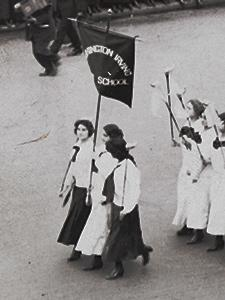 WOMAN'S SUFFRAGE PARADE