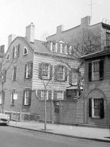 "REAR OF HOUSE ON SOUTH EAST CORNER OF WILLOW STREET AND MIDDAGH STREET FEDERAL STYLE,"" AND ""AT FAR RIGHT, A PORTION OF #2 PIERREPONT STREET"