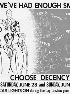 "FLYER, ""CHOOSE DECENCY"""