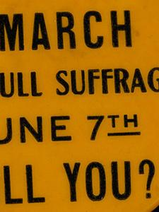 WOMAN SUFFRAGE BADGES AND PINS