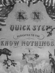 "SHEET MUSIC COVER, ""K N QUICK STEP"""