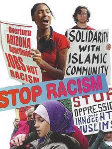 "POSTCARD, ""SAY NO TO RACISM AND ANTI-MUSLIM BIGOTRY"""